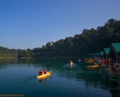 Kayaking by yourself at the Rainforest Camp