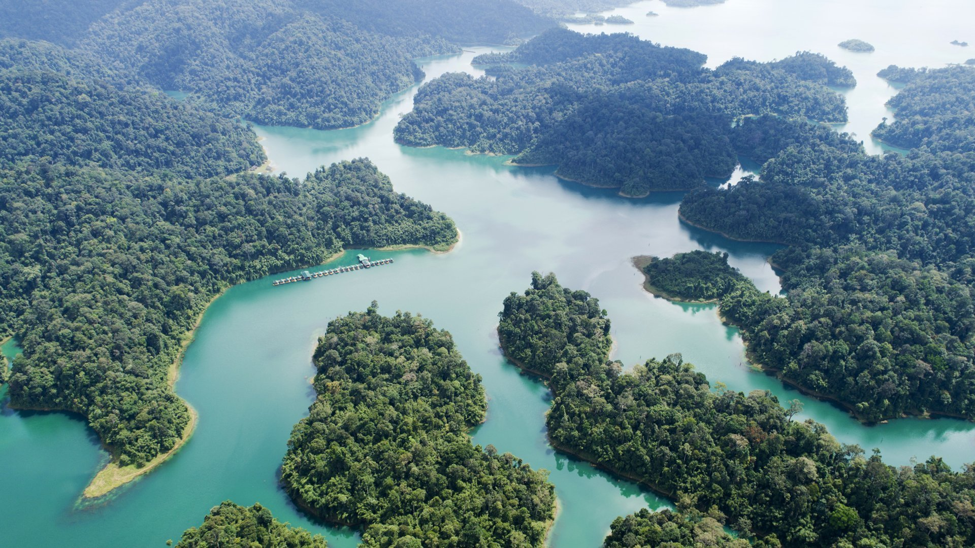 Surrounded by stunning Khao Sok National Park of the world's oldest Rainforest