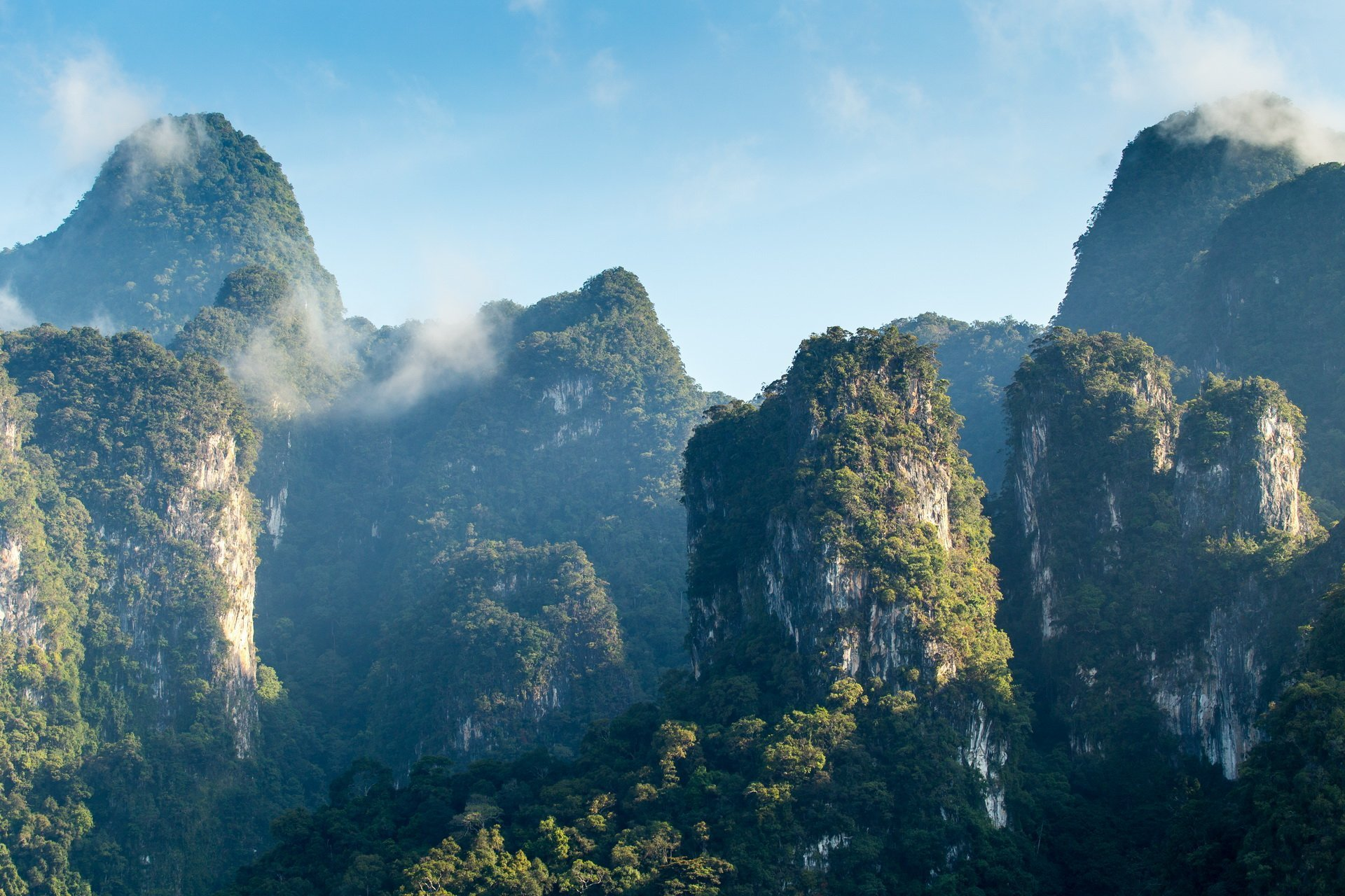 Facts about Khao Sok topography, limestone cliffs and ancient rainforest